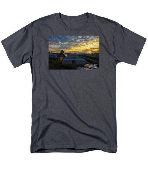Men's T-Shirt  (Regular Fit) featuring the photograph Sunrise In Osaka by Pravine Chester