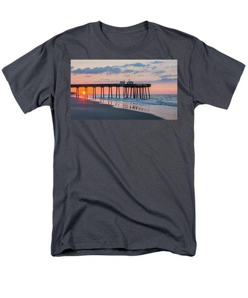Sunrise Ocean City Fishing Pier Men's T-Shirt  (Regular Fit) by Photographic Arts And Design Studio