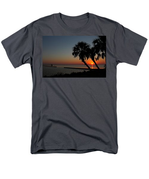 Men's T-Shirt  (Regular Fit) featuring the photograph Sunrise On Pleasure Island by Judy Vincent