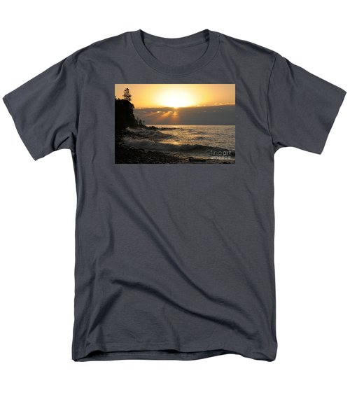 Men's T-Shirt  (Regular Fit) featuring the photograph Sunrise On The Point by Sandra Updyke