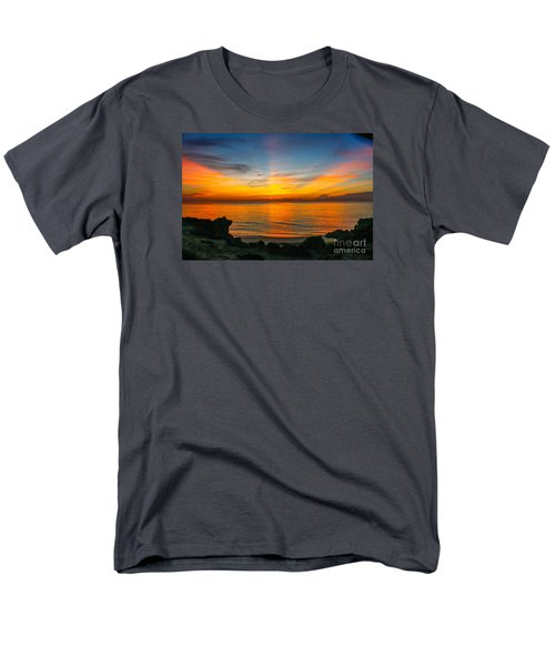 Sunrise On The Rocks Men's T-Shirt  (Regular Fit) by Tom Claud