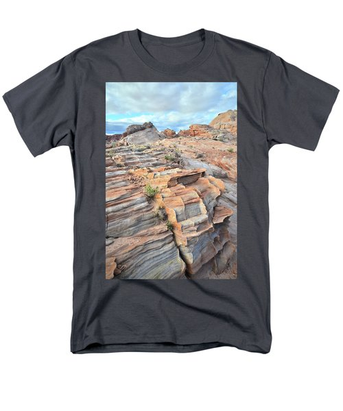 Sunrise On Valley Of Fire Men's T-Shirt  (Regular Fit) by Ray Mathis