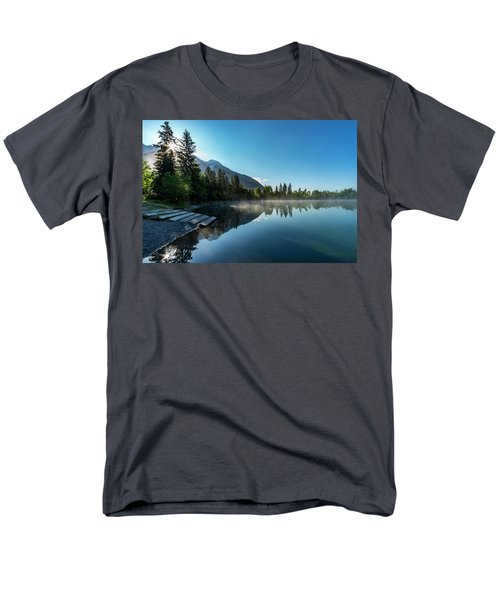 Men's T-Shirt  (Regular Fit) featuring the photograph Sunrise Over The Mountain And Through The Tree by Darcy Michaelchuk