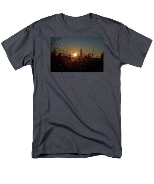 Sunrise Thru The Brush Men's T-Shirt  (Regular Fit) by Dacia Doroff