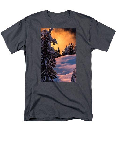 Sunset At Grouse Mountain Men's T-Shirt  (Regular Fit) by Sabine Edrissi