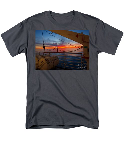 Men's T-Shirt  (Regular Fit) featuring the photograph Sunset At Sea by Trena Mara