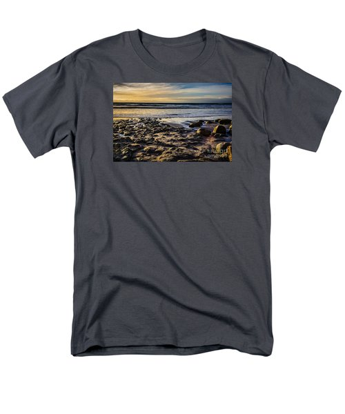 Men's T-Shirt  (Regular Fit) featuring the photograph Sunset At The Beach by Randy Bayne