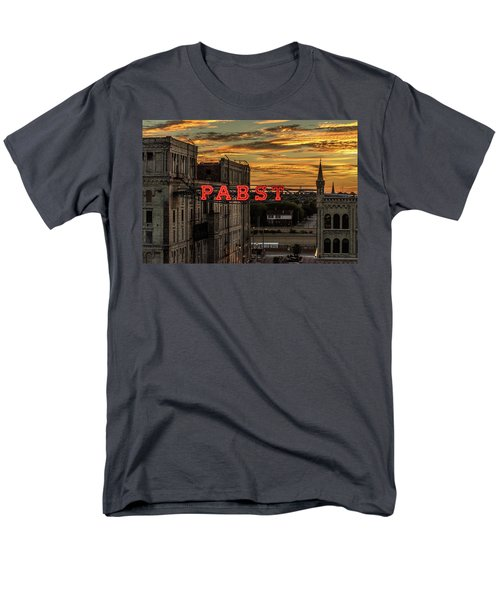 Sunset At The Brewery Men's T-Shirt  (Regular Fit) by Randy Scherkenbach