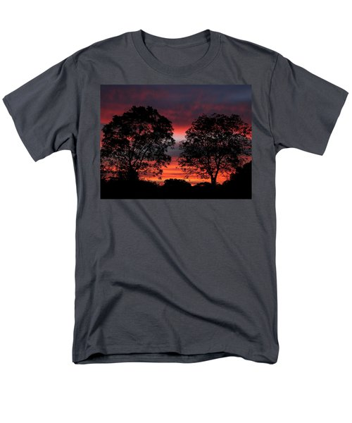 Sunset Behind Two Trees Men's T-Shirt  (Regular Fit) by Sheila Brown