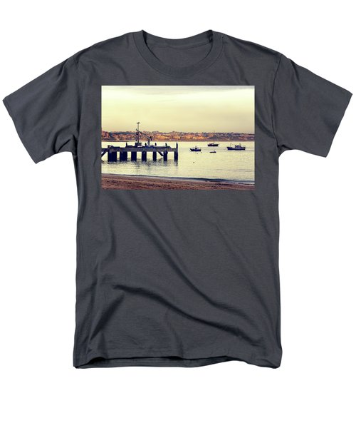 Men's T-Shirt  (Regular Fit) featuring the photograph Sunset By The Sea by Marion McCristall