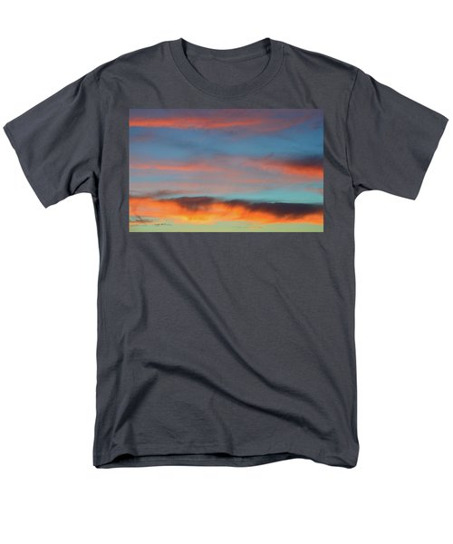 Sunset Clouds In Blue Sky  Men's T-Shirt  (Regular Fit) by Lyle Crump