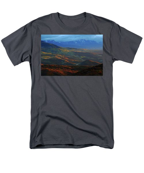 Men's T-Shirt  (Regular Fit) featuring the photograph Sunset During Autumn Below The San Juan Mountains In Colorado by Jetson Nguyen