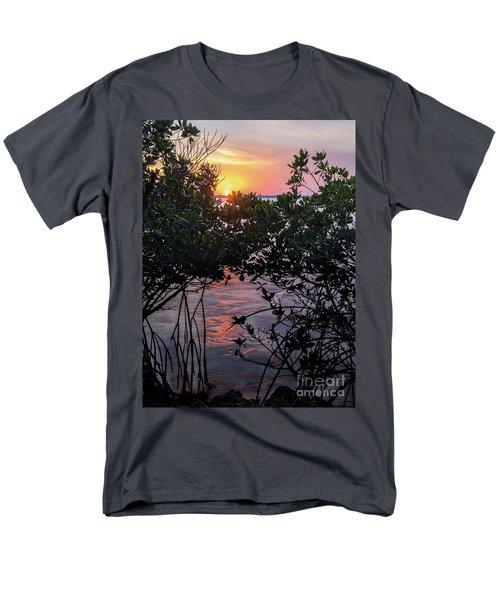 Men's T-Shirt  (Regular Fit) featuring the photograph Sunset, Hutchinson Island, Florida  -29188-29191 by John Bald