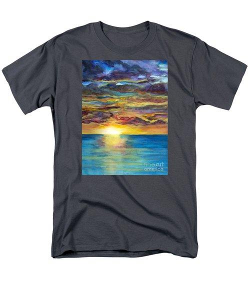 Men's T-Shirt  (Regular Fit) featuring the painting Sunset II by Suzette Kallen
