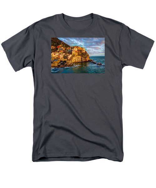 Men's T-Shirt  (Regular Fit) featuring the photograph Sunset In Manarola by Wade Brooks