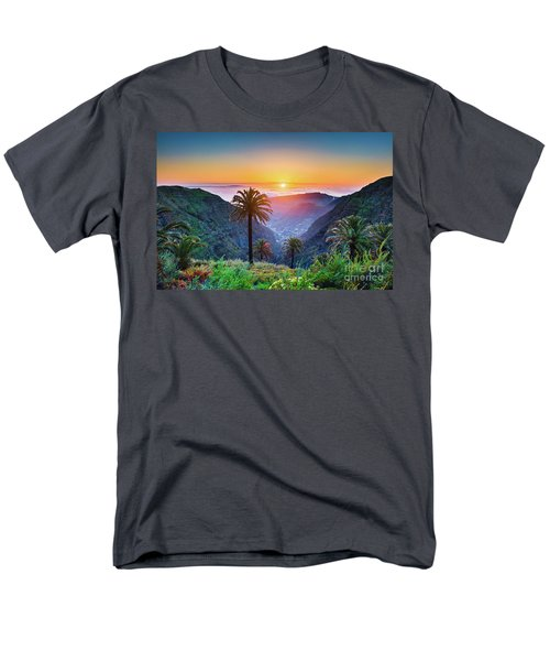 Sunset In The Canary Islands Men's T-Shirt  (Regular Fit) by JR Photography