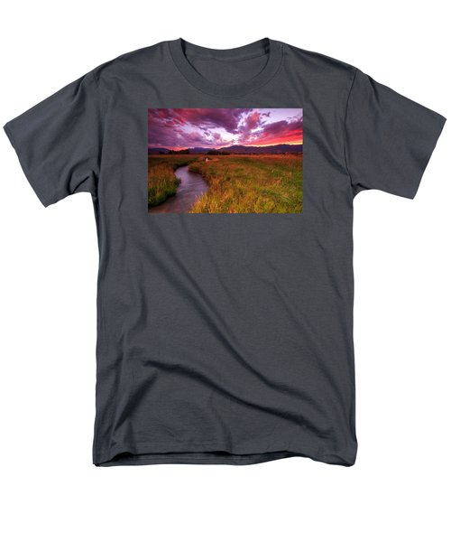 Men's T-Shirt  (Regular Fit) featuring the photograph Sunset In The North Fields. by Johnny Adolphson