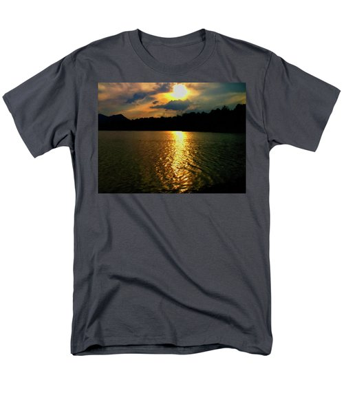 Men's T-Shirt  (Regular Fit) featuring the digital art Sunset In The Smoky Mountains 1 by Chris Flees