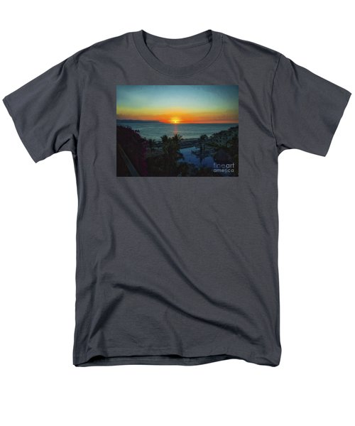 Sunset In Vallarta  ... Men's T-Shirt  (Regular Fit) by Chuck Caramella