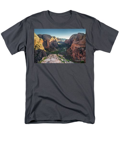 Sunset In Zion National Park Men's T-Shirt  (Regular Fit) by JR Photography