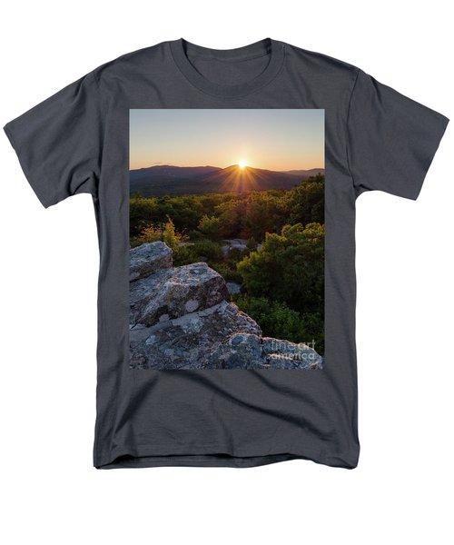 Men's T-Shirt  (Regular Fit) featuring the photograph Sunset, Mt. Battie, Camden, Maine 33788-33791 by John Bald