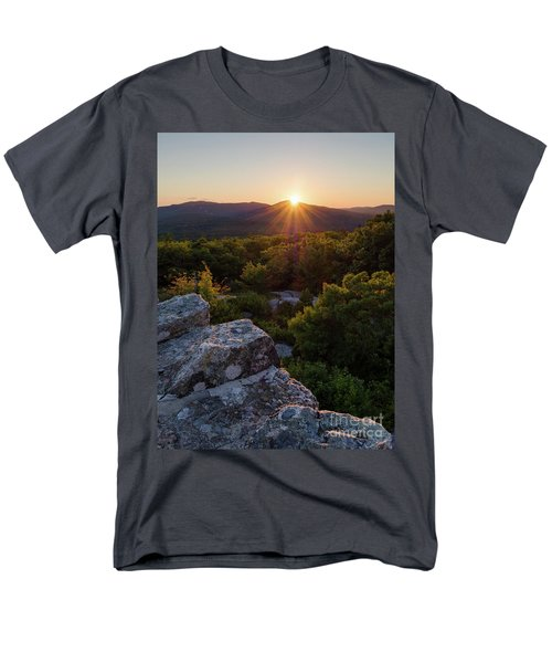 Sunset, Mt. Battie, Camden, Maine 33788-33791 Men's T-Shirt  (Regular Fit)