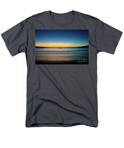 Sunset On Ka'anapali Beach Men's T-Shirt  (Regular Fit) by Kelly Wade