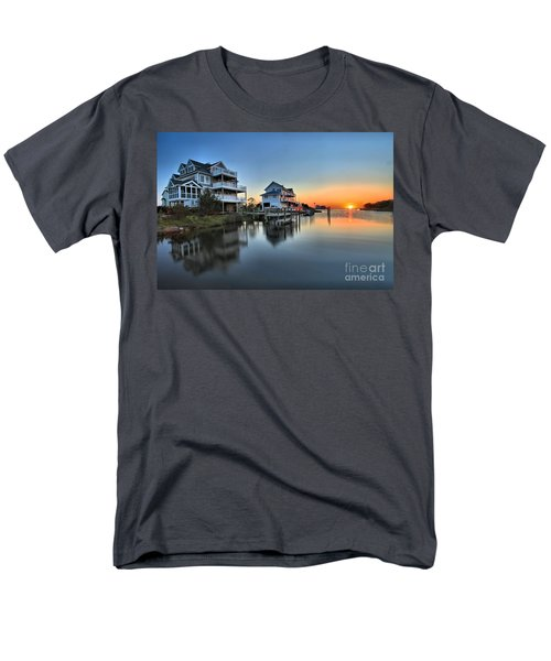Sunset On The Obx Sound Men's T-Shirt  (Regular Fit) by Adam Jewell