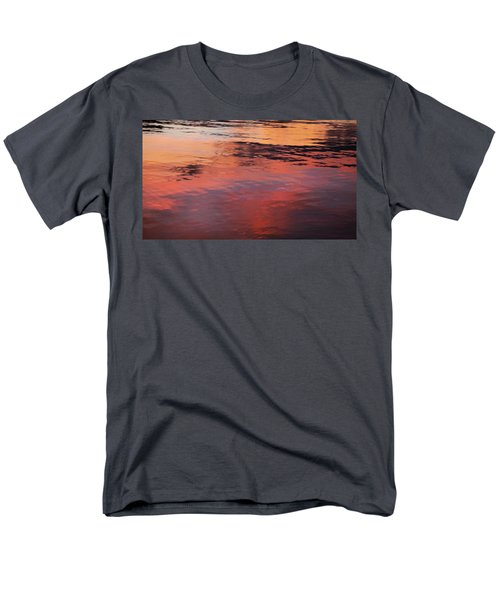 Men's T-Shirt  (Regular Fit) featuring the photograph Sunset On Water by Theresa Tahara