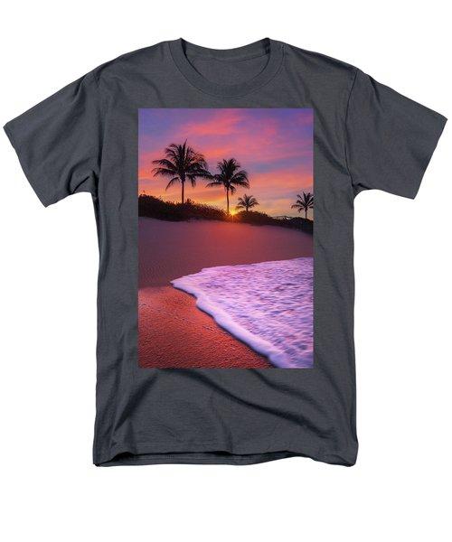 Sunset Over Coral Cove Park In Jupiter, Florida Men's T-Shirt  (Regular Fit) by Justin Kelefas