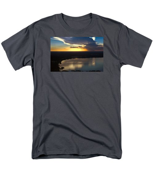 Men's T-Shirt  (Regular Fit) featuring the photograph Sunset Over Lake by Carolyn Marshall