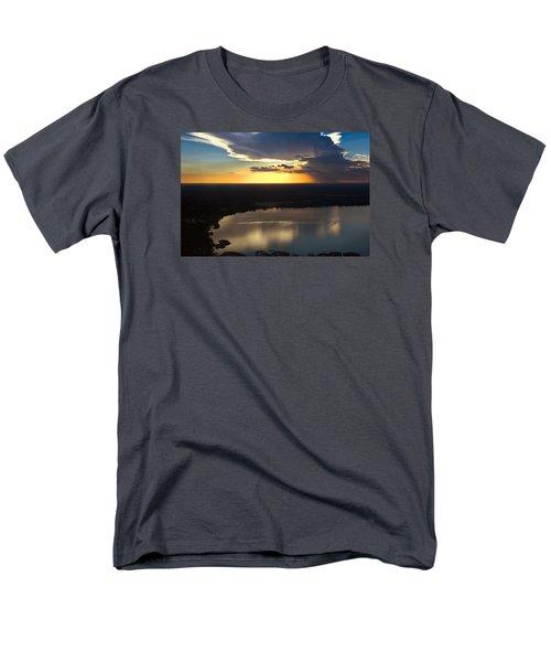 Sunset Over Lake Men's T-Shirt  (Regular Fit) by Carolyn Marshall