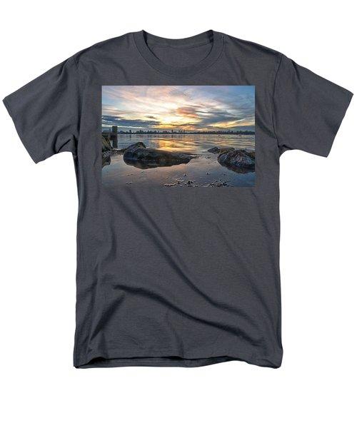 Sunset Over Lake Kralingen  Men's T-Shirt  (Regular Fit) by Frans Blok