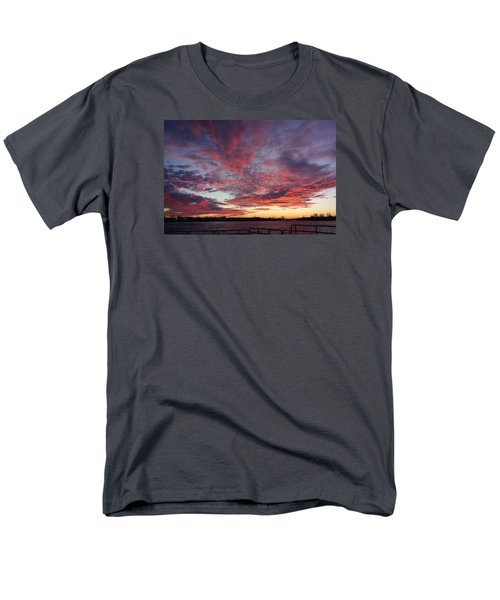 Manasquan Inlet Sunset    Men's T-Shirt  (Regular Fit) by Melinda Saminski