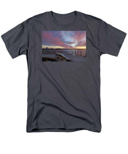 Sunset Over Manasquan Inlet 3 Men's T-Shirt  (Regular Fit) by Melinda Saminski