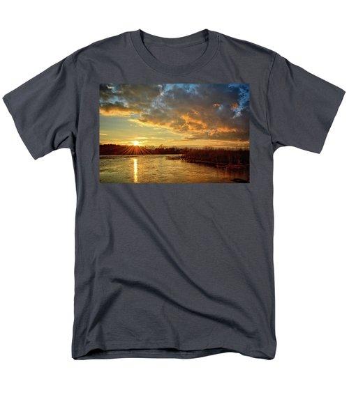 Sunset Over Marsh Men's T-Shirt  (Regular Fit) by Bonfire Photography