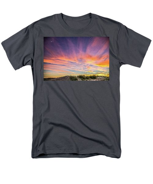 Men's T-Shirt  (Regular Fit) featuring the photograph Sunset Over The Dunes by Vivian Krug Cotton