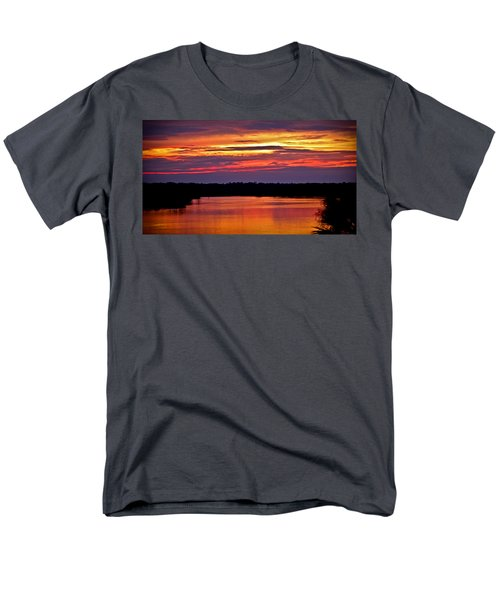 Sunset Over The Tomoka Men's T-Shirt  (Regular Fit) by DigiArt Diaries by Vicky B Fuller