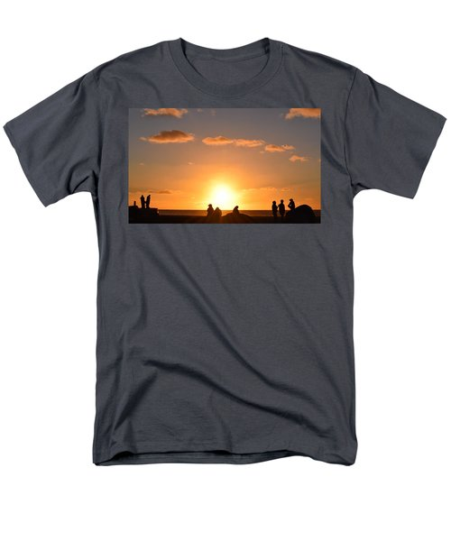 Sunset People In Imperial Beach Men's T-Shirt  (Regular Fit) by Karen J Shine