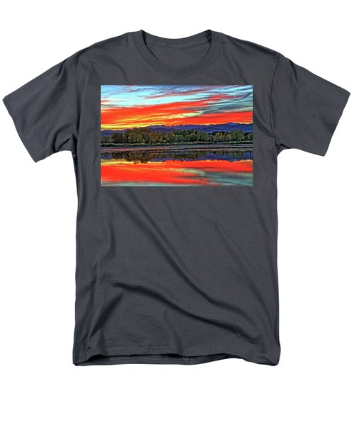 Men's T-Shirt  (Regular Fit) featuring the photograph Sunset Ponds by Scott Mahon