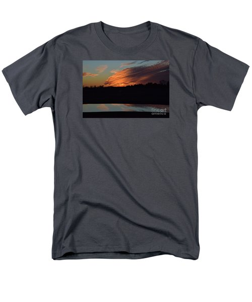 Men's T-Shirt  (Regular Fit) featuring the photograph Sunset Reflections by Mark McReynolds