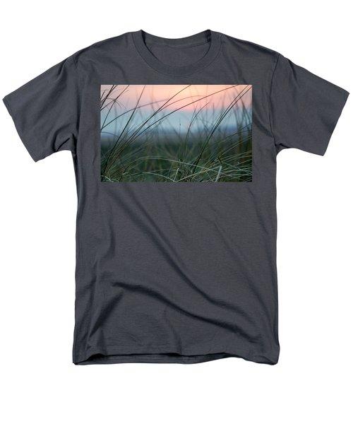 Sunset  Through The Marsh Grass Men's T-Shirt  (Regular Fit) by Spikey Mouse Photography