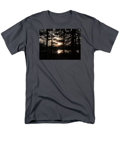 Men's T-Shirt  (Regular Fit) featuring the photograph Sunset Through The Pines by Teresa Schomig