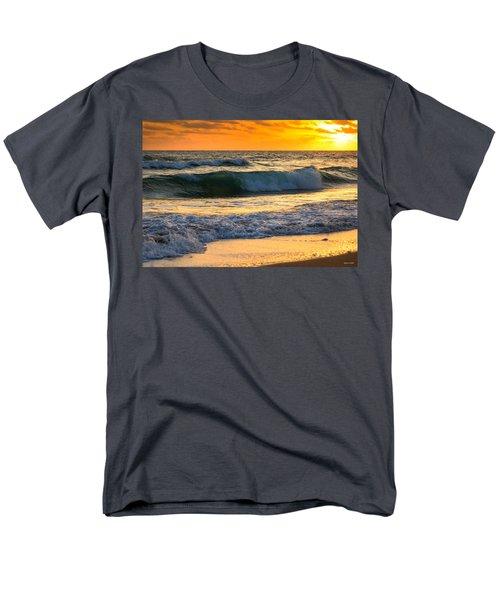 Men's T-Shirt  (Regular Fit) featuring the photograph Sunset Waves by Rebecca Hiatt