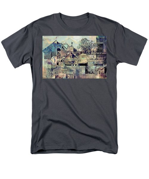 Men's T-Shirt  (Regular Fit) featuring the digital art Sunsets And Blue Point Collage by Susan Stone