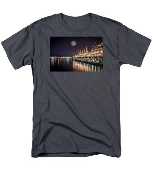 Super Moon Over Canada Place Men's T-Shirt  (Regular Fit) by Sabine Edrissi