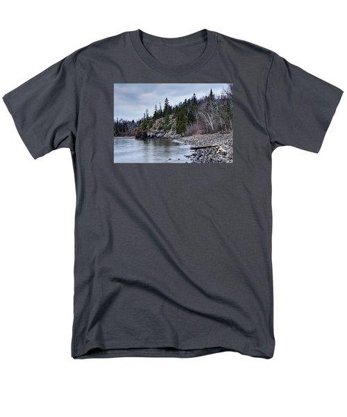 Men's T-Shirt  (Regular Fit) featuring the photograph Superior Cliffs by Larry Ricker