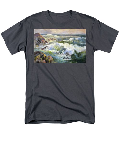 Surf Action Men's T-Shirt  (Regular Fit) by Rae Andrews