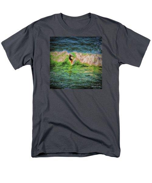 Men's T-Shirt  (Regular Fit) featuring the photograph Surfer  ... by Chuck Caramella