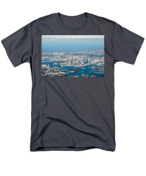 Sydney From The Air Men's T-Shirt  (Regular Fit)